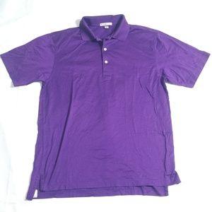 Peter Millar Purple Golfer Polo 100% Cotton